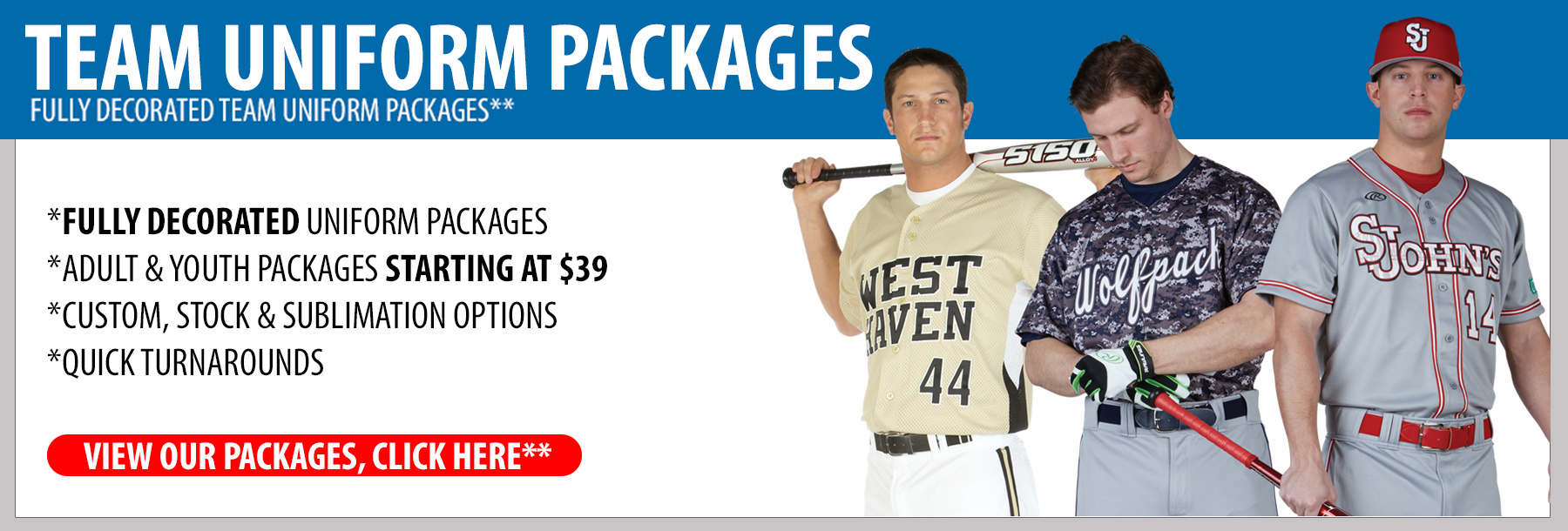 Baseball Team Uniform Packages - Baseball Team Uniforms - Adult Baseball Uniforms - Camo Baseball Uniforms - Youth Baseball Uniforms