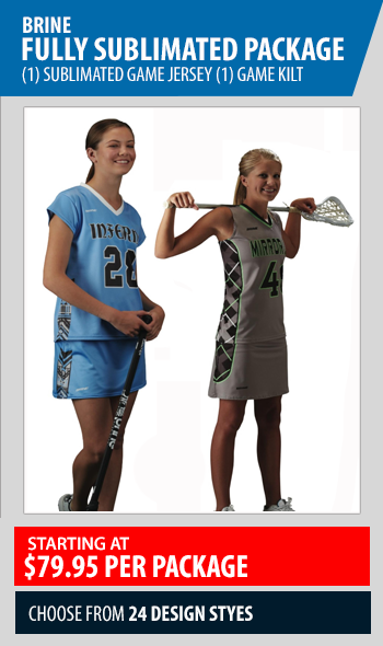 Brine Fully Sublimated Women's Lacrosse Game Uniform Package