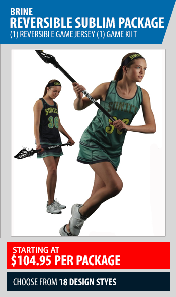 Brine Reversible Sublimated Womens Lacrosse Game Uniform Package