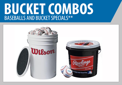 Baseball and Bucket Combo - Baseball Buckets - Baseballs and Bucket