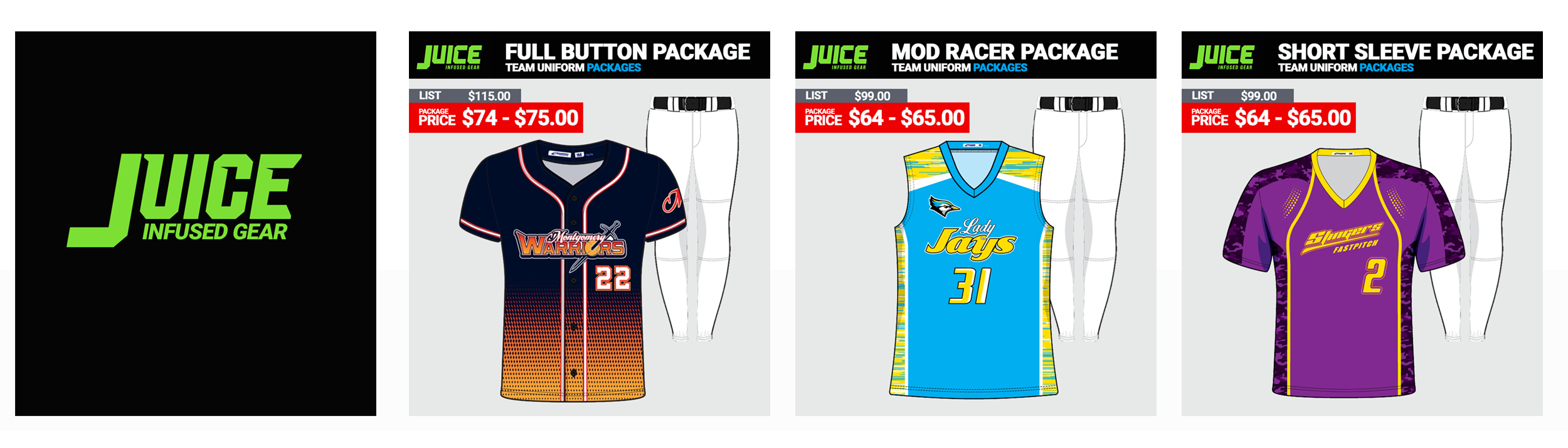 Champro Juice Softball Uniforms