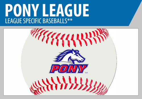 Pony League Baseballs - Pony League Game Baseballs