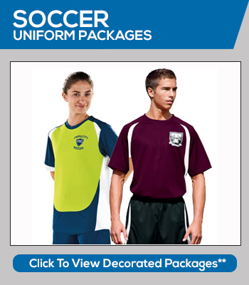 Soccer Team Uniforms and Soccer Ball Packages