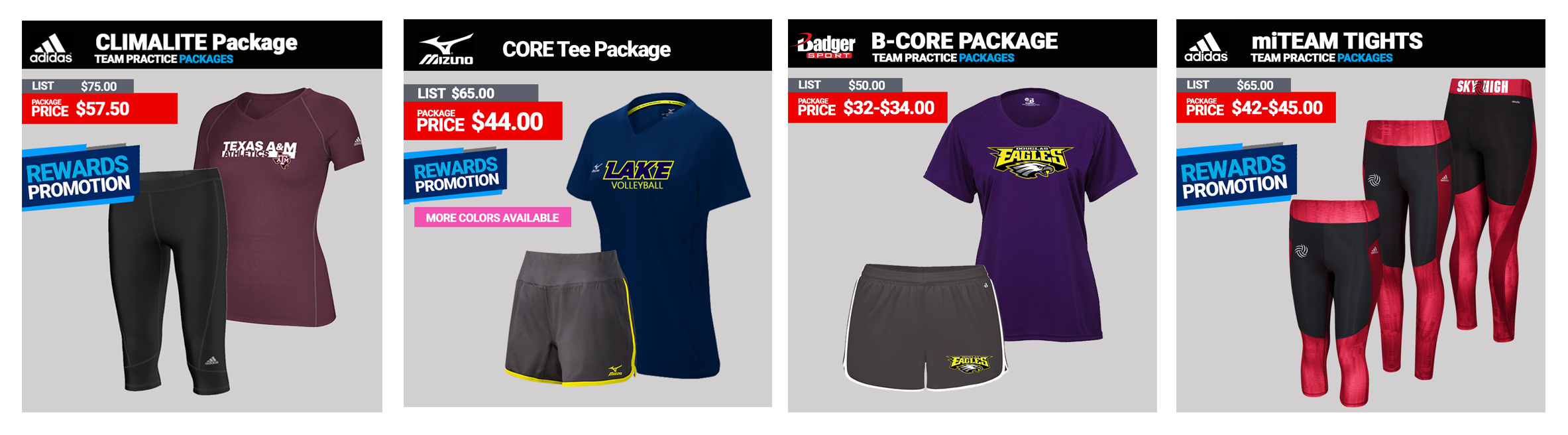Mizuno Volleyball Practice Packages