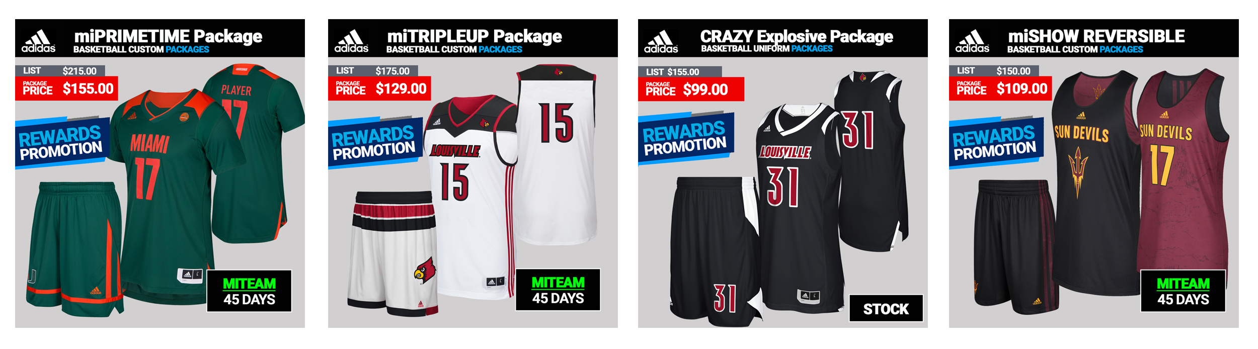 Adidas Custom Basketball Uniforms