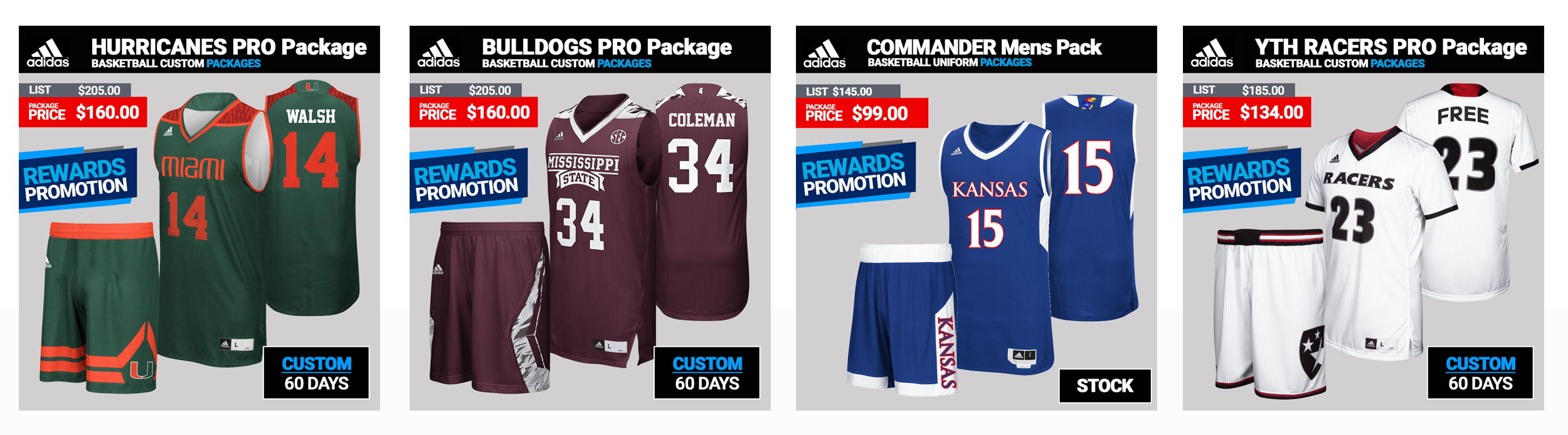 Adidas Sublimated Basketball Team Uniform Packages