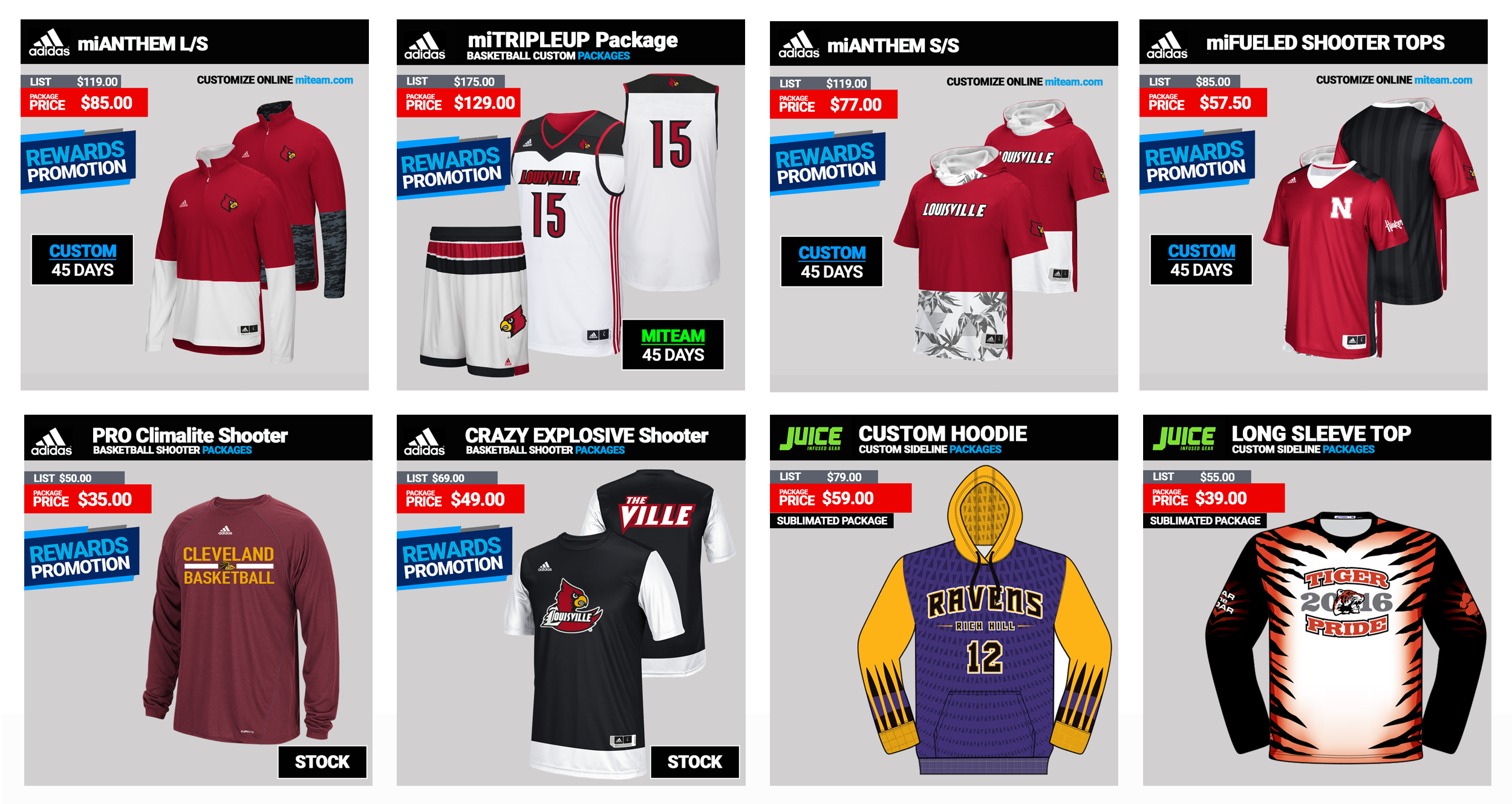 ef0e7e47a802 Shop Basketball Team Sales and Uniforms Online at Low Prices ...