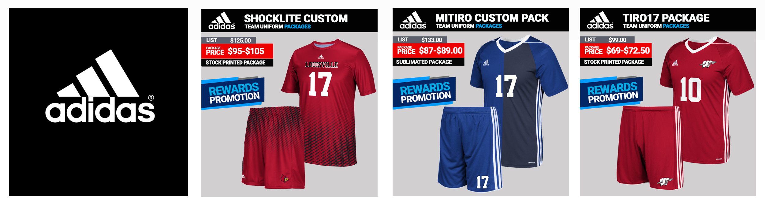 Adidas Team Soccer Uniform Packages