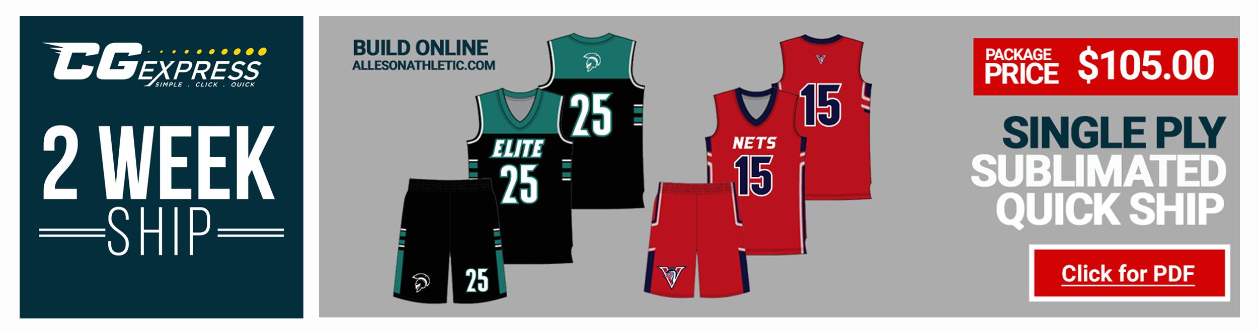 2789ca716 Adidas Custom Basketball Uniforms · Adidas Sublimated Basketball Team Uniform  Packages Alleson Team Basketball Uniforms