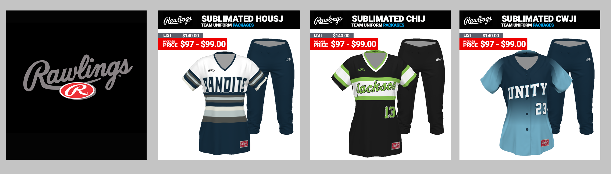 Rawlings Softball Uniform Packages