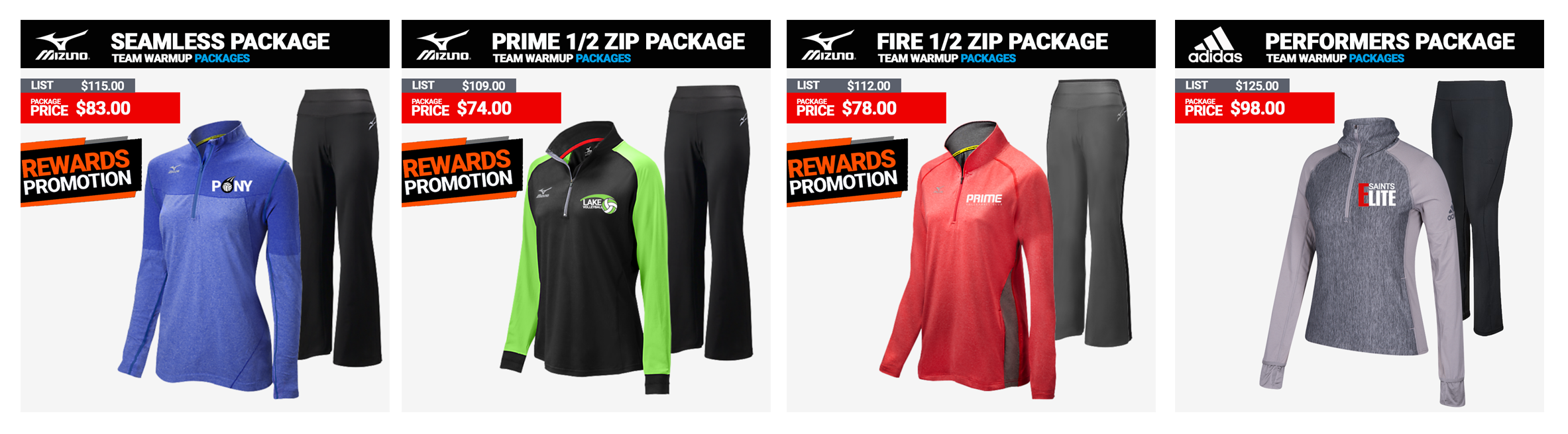 Volleyball Warmup Packages Mizuno