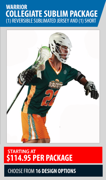 Warrior Single Ply Sublimated Lacrosse Uniform Package