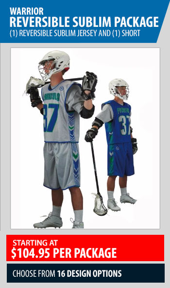 Warrior Sublimated Lacrosse Reversible Package